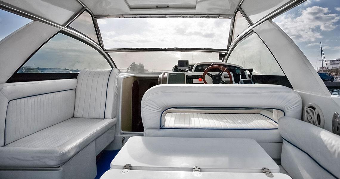 Santorini tours Pelagos Cruises inside boat